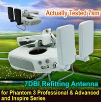 Wholesale Gain Signal Booster Antenna - DIY Signal Booster High Gain 7DBI Refitting Antenna for DJI Inspire 1  Phantom 3 Professional & Advanced Free shipping