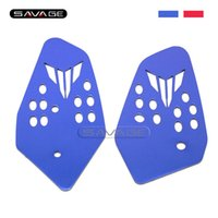 Wholesale Heel Guards - For YAMAHA MT07 FZ07 MT-07 FZ-07 2014 2015 2016 Blue Red Motorcycle Accessories Foot Peg Heel Plates Guard Protector