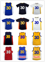 Wholesale Embroidery Basketball Jersey - 2017 Men Stephen Curry#30 Basketball jerseys Youth Kid Curry 30 jersey Cheap wholesale High quality Embroidery Logos Free Shipping
