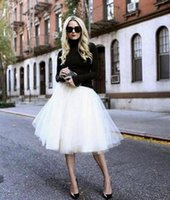 Wholesale Summer Gowns For Women - 2017 new Tulle Tutu Skirts For Women 14 Colors Summer Pleated skirt Maxi Tulle Beach Plus Size Party Prom Dresses