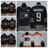 Personnalisé n'importe quel nom et nombre Flyers # 28 Giroux Stadium Series Hockey Jerseys Hommes Hockey Vêtements 2017 Philadelphie # 17 Simmonds # 53 Gostisbeh