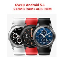 Wholesale Gps Kids Cellphones - HOT GW10 3G WCDMA Bluetooth Smart Watch cellphone MTK6572 Android 5.1 Dual Core Heart Rate GPS Smartwatch for IOS&Android phone watch
