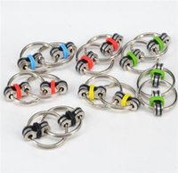 Wholesale Ring Rotor - 2017 new arrived hot key ring fidget toys metal rotor keyring mini EDC toys hyperactivity anxiety backpressure increases autism Free shpping