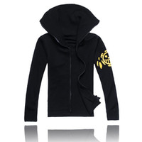 Wholesale one piece law costumes for sale - Group buy One Piece Trafalgar Law cos cloth set Trafalgar D Water Law cosplay hoodies second generation top coat