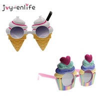 1 stücke Nette Eis / Kuchen Sonnenbrille Brillen für Hawaiian Beach Party Decor Gläser Sommer Party Decor Foto Requisiten Liefert