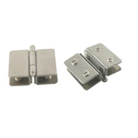 Wholesale Shower Clamps Hinges - 2pcs Shower Showcase Cabinet Glass Door Clip Clamp Hinges Fit For 5-10mm Glass Thickness Without Dringing Hole To Install