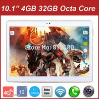 Wholesale Chinese Tablet 4g - Wholesale- 2016 Newest 10 inch 3G 4G Lte Tablet PC Octa Core 4GB RAM 32GB ROM Dual SIM Cards Android 5.1 GPS Tablet PC 10 10.1 +Gifts