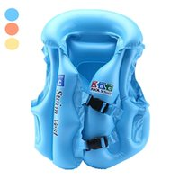 Wholesale Baby Swim Life Jackets - Wholesale- Babies Inflatable Life Vest Water Fun Sports Swimming Vest Air Floating Island Buoy Raft Outdoor Swimwear Kids Cute Life Jackets