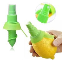 Wholesale Lemon Squeezer Free Shipping - 2Pcs set Creative Lemon Sprayer Fruit Juice Citrus Lime Juicer Spritzer Household Gift Kitchen Tools Hand Sprayers Shipping Free 170101