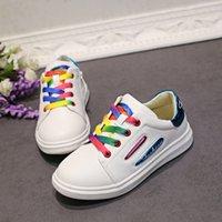 Wholesale Children Kid S Sport Shoes - New kids shoes children' s students travel sports shoes in the children leisure shoes rainbow shoelaces