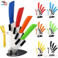 """Wholesale Knife Acrylic Stands - D002 FINDKING brand high quality kitchen knife ceramic knife set 3"""" 4"""" 5"""" 6"""" inch + peeler + Transparent Acrylic Stand kitchen"""