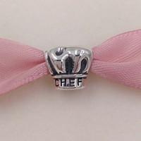 perlen 925 ale großhandel-Neue 925 Sterling Silber Perlen Ich liebe Kochen Charme Fit Europäischen Pandora ALE Stil Armbänder Halskette Geschenk Schmuck