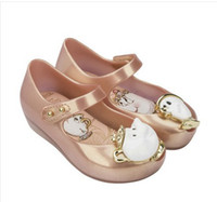 Wholesale Jelly Bow Heel - Mini Melissa Stock New Beauty Beast Jelly Sandals Girl Princess Sandals Rose Flower Teacup Teapot Design 15-18cm 12 Lot DHL Free