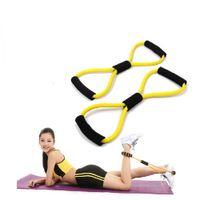 ingrosso forma di resistenza a banda-1x Fascia toracica da allenamento a forma di 8 corde per la resistenza delle donne. Esercizio di fitness completo