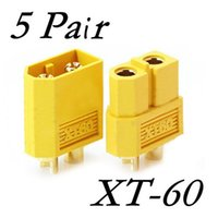 Wholesale Male Bullet Connectors - New Wholesale 5 Pairs XT60 XT-60 Male Female Bullet Connectors Plugs for RC Lipo Battery