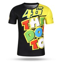 Nova chegada 2017 MOTOGP THE DOCTOR T-Shirt Luna Rossi VR46 T-Shirt Summer Motorcycle Casual VR 46 Sports T shirt 100% Polyester