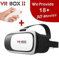 Update VR Box 2.0 VRBOX Pro ii Leder 3D Brille Virtual Reality Headset 360 Viewing Helm Video für4-6 'Handy + Fernbedienung
