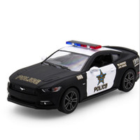 Wholesale Toy Cars Open - Magic crown simulation alloy model toy car US Ford Mustang police back to force two open the door toys