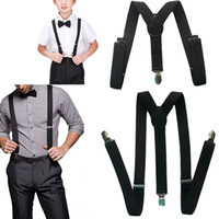 Wholesale Wholesale Womens Suspenders - Wholesale- 2PCS Fashion Casual Adults and Children Womens Mens Kids Boys  Suspenders Clip-on Braces Elastic All-match Accessories QZBD001