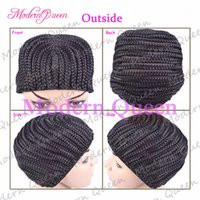 Wholesale Elastic For Sewing - Crochet Braids Hair Wig Cap Crochet Wig Caps Easy Sew In Cornrows Cap Elastic Crochet Braids Glueless Wig Braided Caps For Making Wigs
