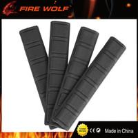 Wholesale Covers Rails - FIRE WOLF 4 pieces Tactical KeyMod Rubber soft Rail Cover type black DE Rail Mount Cover