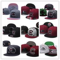 Wholesale Cartoon Snapbacks Caps - Top Sale 2017 New South Carolina Gamecock NCAA Snapback Hats Brand USA College Cartoon Logo Adjustable Caps Fashion Hip Hop Chapeaus