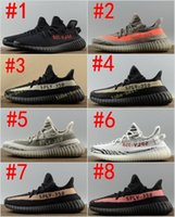 Wholesale best shoes boots - 2017 Best Quality Boost 350 Boost V2 Beluga Sply-350 Cheap Black White Black Peach Men Women Running Shoes Kanye West Boost 350