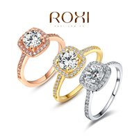 Wholesale Exquisite Platinum Plated Ring - ROXI Exquisite Rings platinum rosegold 18K plated with zircon,fashion Environmental Micro-Inserted Jewelry,101009438