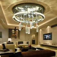 Wholesale living lines for sale - Group buy new LED crystal line cutting lights circular living room dining room study bedroom modern suction ceiling lamps LLFA