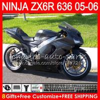 Wholesale kawasaki ninja online - 8Gifts Colors kit For KAWASAKI NINJA ZX ZX R CC NO45 Silver flame ZX ZX R ZX636 ZX6R Fairing Body