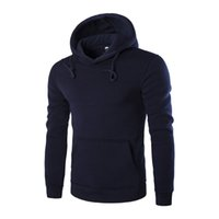 Wholesale Xxl Six - Wholesale-Fashion 2016 Cotton Long-Sleeved Hoodies Men Casual Sportswear Male Hooded Sweatshirt Six Colors Slim Fit Tracksuit M-XXL