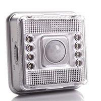 parlak ışıklar otomatik toptan satış-8 LED Işık Lamba PIR Oto Sensörü Hareket Duvar lambası led gece Işık Yüksek parlak Hassasiyet Koridor Kabine Işık