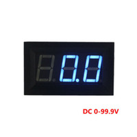 Wholesale Digital Voltage Display Blue - DC 0-99V Digital Display Panel Voltmeter Blue Color LEDS Three Wires Voltage Meter