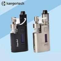 Wholesale Ez Box - Wholesale- Kanger Drip EZ Starter Kit 80W Box Mod Vape vaporizer with Pump 0.3Ohm Drip coil 0.2Ohm Drip EZ Kit E Electronic Cigarette