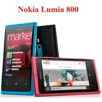 Wholesale Wholesale Windows Cell Phones - Original Nokia Lumia 800 Mobile Phones Windows OS 3.7inch 16GB ROM 8.0MP Single Camera 3G Refurbished Cell Phones