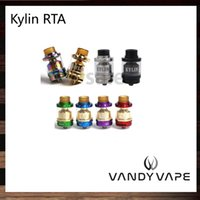 Wholesale Dual Hole Atomizer - Vandy Vape Kylin RTA 2ml   6ml Tank Plethora of Airflow Holes Both Single and Dual Coil Atomizer Wide Bore Drip Tip 100% Original