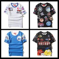 Wholesale Brand Ny - brand championer t-shirt men clothing pyrex t shirt casual ktz shirts,summer hiphop hba Tops & Tees hip hop NY swag medusa tshirt