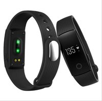 Wholesale Bracelet Boxes Purple - Fitbit Smart Watch ID107 Bluetooth 4.0 Smart Bracelet with Heart Rate Monitor Fitness Tracker Sports Wrist Watches for Android IOS in box