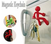 Wholesale Magnetic Fridge Key Holder - Wall climbing man magnetic Creative Home Decoration Wall Climbing Boy Magnetic Key Holder Fridge Magnets hot sales
