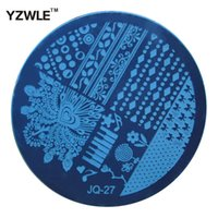 Wholesale Nail 27 - Wholesale- YZWLE 1 Pcs Stamping Nail Art Image Plate, 5.6cm Stainless Steel Nail Stamping Plates Template Manicure Stencil Tools (JQ-27)