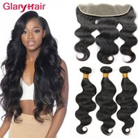 Wholesale best brazilian body wave closure for sale - Group buy Best Brazilian Body Wave Hair Bundles with x4 Lace Frontal Closure Remy Human Hair Weaves Top Lace Closure and Virgin Hair Bundle Deals