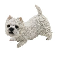 Carino West Highland White Terrier 4,7 pollici Figura Resina Puppy Statue Art Crats Collection Regalo per amante dei cani