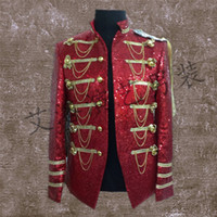 Wholesale Colonial Costumes - Wholesale- Royal Mens Period Costume Medieval Renaissance Stage Performance Charming Fairy Tale William Colonial Stage Costumes