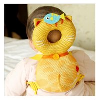 Wholesale Cartoon Monkey Pillow - Baby Pillow Head Neck Cushion Crashproof Monkey Dog Dragon Bee Cat Cartoon Baby Product Keep Safe DHL Fast Shipping