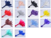 Wholesale wedding cocktail hats - FREE SHIPPING,14-19cm cocktail feather for fascinator sinamay hat party mask wedding hat,8 colors.14 COLOURS