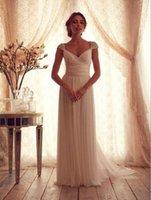 Wholesale Shiny Elegant Dress - Elegant A Line Wedding Dresses Fancy White Chiffon Sleeveless Summer Women Wedding Dresses with Shiny Sequins