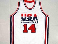 Mens economici ALONZO MOURNING TEAM USA JERSEY WHITE DREAM TEAM NUOVA QUALSIASI TAGLIA XS - 5XL Retro Maglie basket