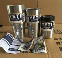Wholesale Coffee Mugs Sale Free Shipping - Hot sales yeti cup 304 stainless steel tumbler beer cup double walled travel mugs Vacuum Insulated Rambler drinking coffee cup free shipping