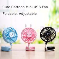 Portable Portable Hand Handheld Mini ventilateur Folding Office Desktop Cartoon Petits Fans Summer Handheld Cooling Fans
