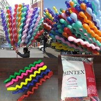 Wholesale Quality Latex Balloons - Wholesale Colorful Kids Toys Balloon Spiral Balloons For Wedding Birthday Party Christmas toys Christmas Decorations High Quality